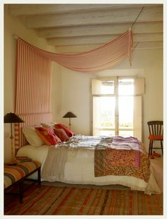 Traditional Indian bedroom.