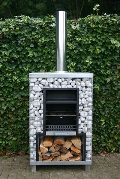 Gabion outdoor stove/grill | FollowPics