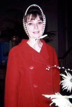 Rare Audrey Hepburn — The actress Audrey Hepburn photographed at the...