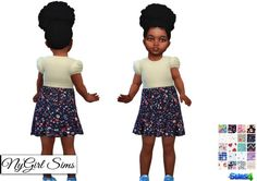 NY Girl Sims: Dress with Printed Skirt • Sims 4 Downloads
