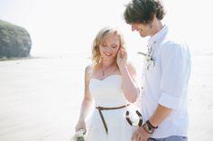 beach wedding. lucky horseshoe. nik & chris   an eco-friendly, handmade coastal welsh wedding » Home