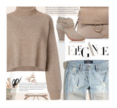 """""""Back to campus. Beige mood."""" by imurzilkina ❤ liked on Polyvore featuring Rejina Pyo, EyeBuyDirect.com, Hollister Co., Chloé, ESSEY and rag & bone"""