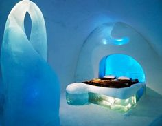 Ice Hotel in Sweden.Must see. i've always wanted to go! Oh The Places You'll Go, Places To Travel, Ice Hotel Sweden, Ice Houses, Ice Art, Ice Castles, Best Hotels, Amazing Hotels, Luxury Hotels