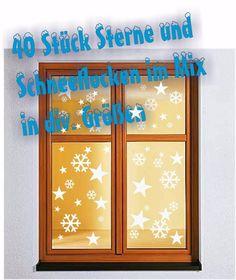 Unique  Sterne u Schneeflocken Aufkleber Sticker Winter Weihnachten Dekoration Tattoo eBay