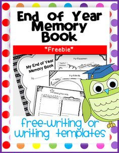End of Year Memory Book *Freebie Sample*