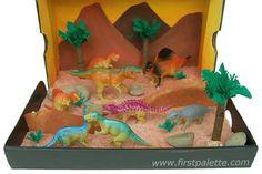 dinosaur craft images kids   Dinosaur Diorama craft