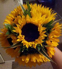 Sunflower Bridal Bouquet   Fresh Custom by FreshFloralbyJessica, $50.00
