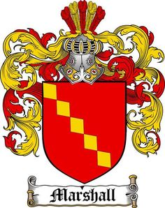 MARSHALL FAMILY CREST - COAT OF ARMS gifts at www.4crests.com