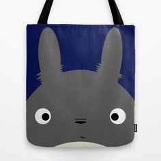 Navy Totoro Tote Bag | dotandbo.com