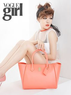 Ga-In posing in a photo shoot for Vogue Girl Korea Magazine March Issue 2013.