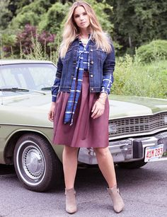 View our Faux Leather Skater Skirt and shop our selection of designer women's plus size Skirts, clothing and fashionable accessories. Plus Size Skirts, Full Skirts, Leather Skater Skirts, Leather Skirt, Fall Winter Outfits, Black Sweaters, Fit And Flare, Plus Size Fashion, Plus Size Women