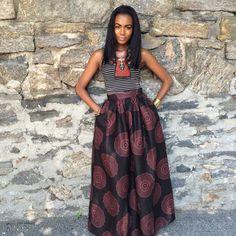MAXI IMPRESSION AFRICAINE    # 10027 - BB    DESCRIPTION DU PRODUIT    Impression de cire africaine beau Regal noir et marron    environ 45