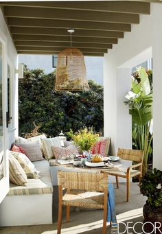 Stunning farmhouse front porch decor ideas Ruth Trevor Tondro Stylish And Shady Patio Classy World Love Yourself 35 Porch Decorating Ideas Front And Back Porch Design Pictures Outdoor Rooms, Outdoor Dining, Outdoor Furniture Sets, Outdoor Decor, Outdoor Lounge, Outdoor Fabric, Furniture Ideas, Furniture Layout, Furniture Makeover