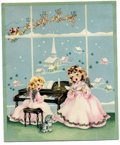 Vintage Christmas Art Card – Vintage Images Download