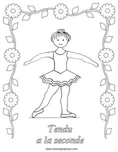 ballet coloring pages - Google Search  - second position