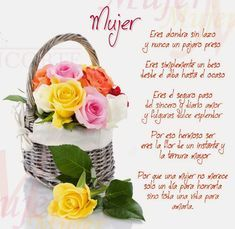 Tarjetas y Poemas para el día de la Mujer Mother's Day Projects, Thanksgiving Quotes, Thoughts And Feelings, Paper Flowers, Table Decorations, Slogan, Mothers, Nice, Google