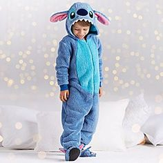 Stitch Costume Sleepwear for Kids | Disney Store It won't be hard to fall into an enhanced slumber in our adorable Stitch sleepwear costume for kids. Soft and fuzzy, they will have them dreaming of an island paradise.