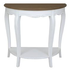August Grove Madison Half-Moon Console Table Color: Atique White