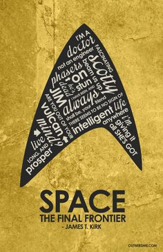 Star Trek Original Series Quote Poster por OutNerdMe en Etsy