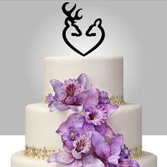 Rustic Cake Topper Buck and Doe Deer Cake Topper (Black) GivingInk http://www.amazon.com/dp/B00KPJ9BYC/ref=cm_sw_r_pi_dp_pYl8ub0S69M44