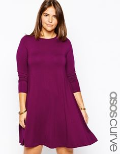 Enlarge ASOS CURVE Swing Dress With Seam Detail