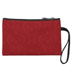 Red Demask Clutch Bag Wristlet