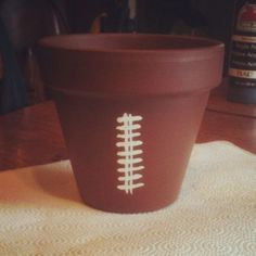 Football flower pot