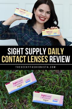 Sight Supply Daily Contact Lenses Review // The Geeky Fashionista Daily Contact Lenses, Anime Conventions, Health Matters, Giveaways, Health And Wellness, Encouragement, Events, Education, Group