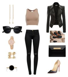 """""""From dawn to dusk"""" by khanyi2c ❤ liked on Polyvore featuring J Brand, Isabel Marant, Kate Spade, Christian Louboutin, Balenciaga, women's clothing, women, female, woman and misses"""