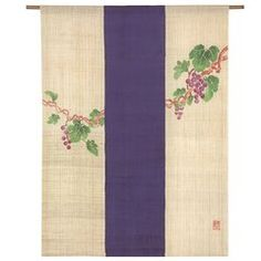 Grape Pattern Noren Curtain