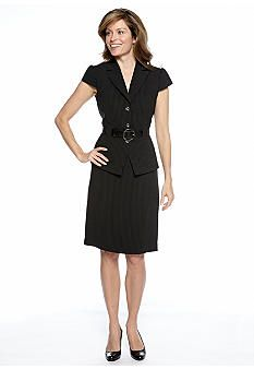 Tahari ASL Belted Pinstripe Skirt Suit. This career outfit is on clearance on Belk