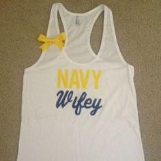 Navy Wifey Tank