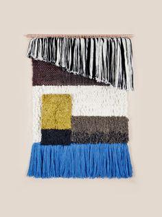 Black and White Asymmetric Rya weaving by Brook & Lyn