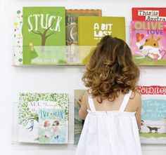 Great kids books are always in style. Especially when you can SEE their beautiful artwork through these clear shelves.