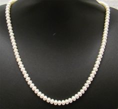 "14K YELLOW GOLD FRESHWATER 7MM CULTURED WHITE BUTTON PEARL NECKLACE 24"" LONG"