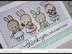 "Nichol Spohr Magouirk: Mama Elephant Stamp Highlight | Pix's Favorites ""Thank You"" Card"