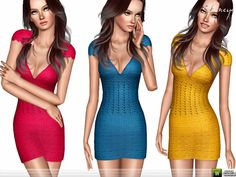Sims 3 Clothing http://www.thesimsresource.com/downloads/details/category/sims3-clothing-female/title/knit-mini-dress-/id/1294617/