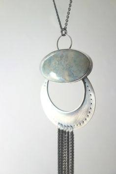 """Huge Aquamarine Necklace - """"Water of the Sea"""""""