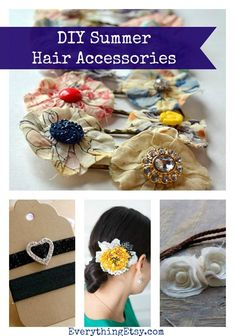 12 DIY Summer Hair Accessories...I love them!!! :)