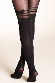 Limited Collection Bow Mock Stockings Tights  £9.50