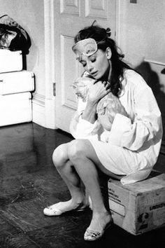Audrey Hepburn + Cat {Breakfast at Tiffany's}