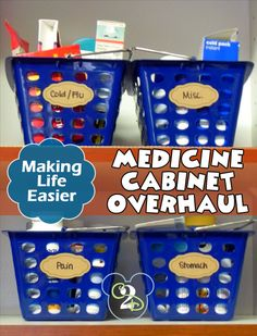 I'll appreciate having my medicine cabinet organized when I need something in an emergency situation. This looks like the easiest way to do it too.