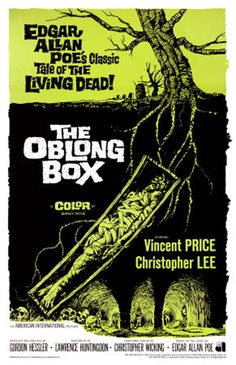 🎃 Movie for Halloween, 1969 The Oblong Box, British horror film directed by Gordon Hessler, starring Vincent Price, Christopher Lee and Alister Williamson. This was the first film to star both Price and Lee. Horror Movie Posters, Old Movie Posters, Classic Movie Posters, Classic Horror Movies, Movie Poster Art, Poster S, Horror Films, Punk Poster, Horror Icons