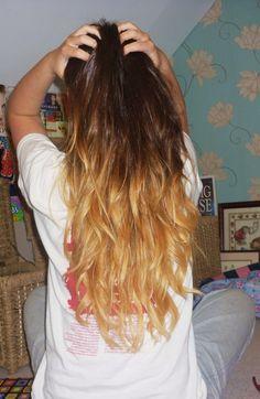 dip dyed hair   Tumblr