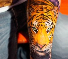 Tiger tattoo by Khan Tattoo