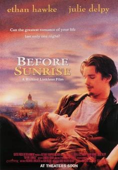 Before Sunrise is a 1995 romantic drama film directed by Richard Linklater and written by Linklater and Kim Krizan. With Ethan Hawke, Julie Delpy, Andrea Eckert, Hanno Pöschl. Before Sunset, Before Sunrise Movie, Before Midnight, Julie Delpy, See Movie, Movie List, Movie Tv, Best Indie Movies, Good Movies