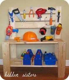Hidden Sisters: DIY Inspiration: A Children's Tool Bench