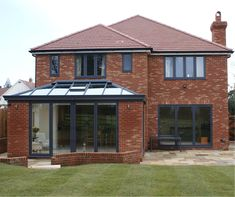 Glass Roof Extension, 1930s House Extension, House Extension Design, Rear Extension, Extension Ideas, Upvc Windows, House Windows, House Roof, Garden Room Extensions