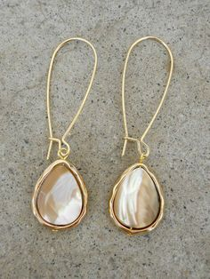 Opalescent Drop Earrings [3313] | Vintage Inspired Clothing & Affordable Fall Frocks, deloom | Modern. Vintage. Crafted.
