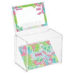 Checking In Recipe Box and Cards by Lilly Pulitzer